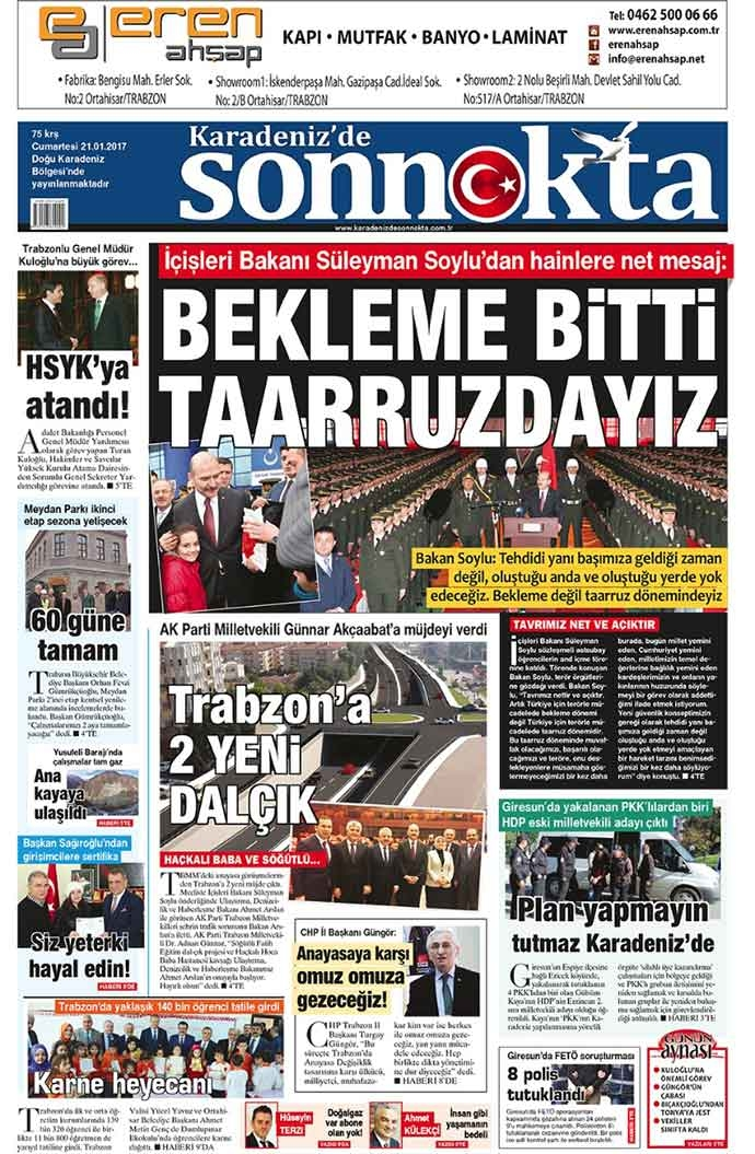 Yerel Basın - 21-01-2017