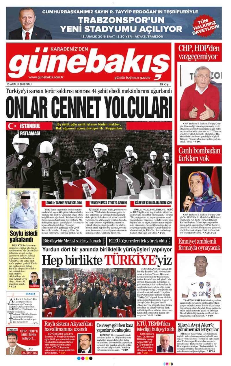 Yerel Basın - 13 Aralık 2016