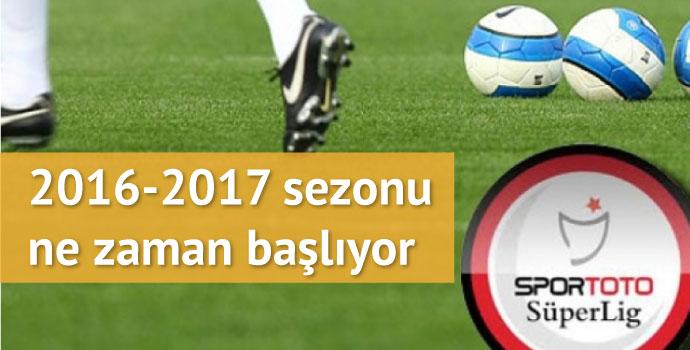 2016 - 2017 sezon planı belli oldu