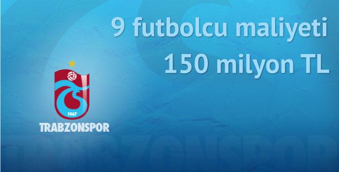 9 futbolcu maliyeti 150 milyon TL