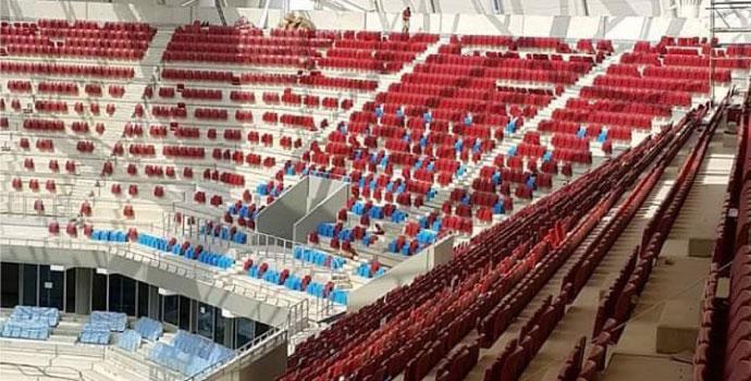 Akyazı Stadı'nda koltuklar netleşmeye başladı