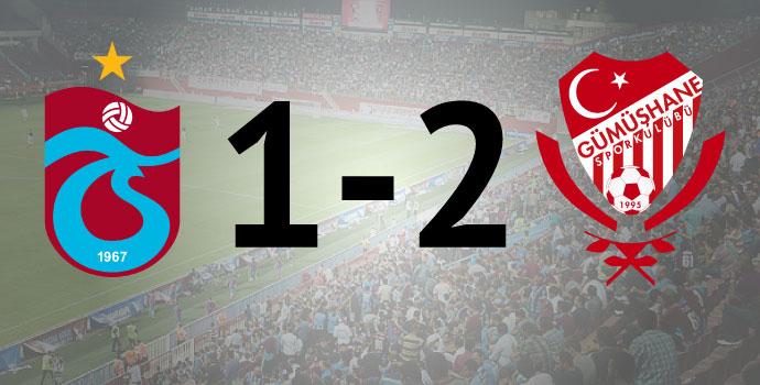 Avni Aker'de kara gece! Trabzonspor 1-2 Gümüşhanespor