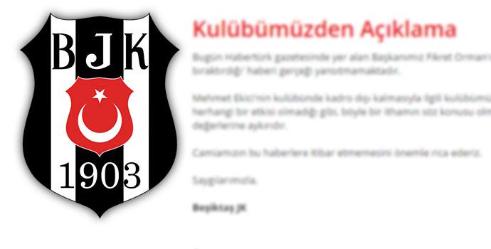 Beşiktaş'tan Ekici açıklaması