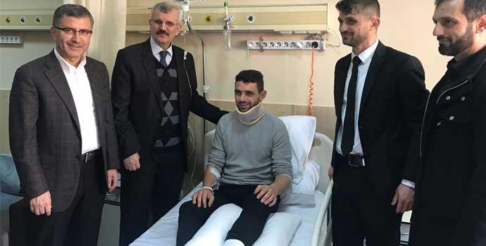 Erdöl ve Türkmen Hüseyin Kurt'u ziyaret etti