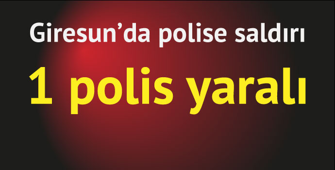 Giresun'da polise saldırı