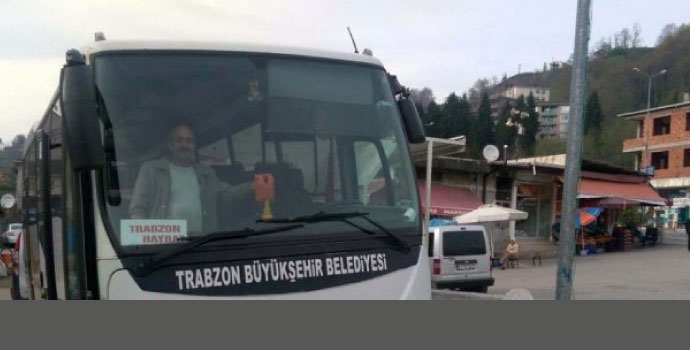Hayrat'a belediye otobüsü seferleri başladı