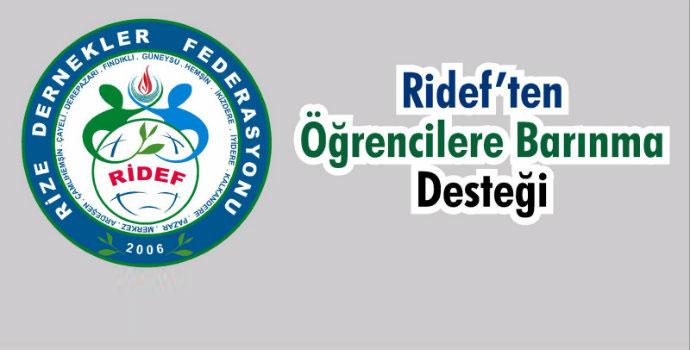 RİDEF'ten öğrencilere barınma desteği