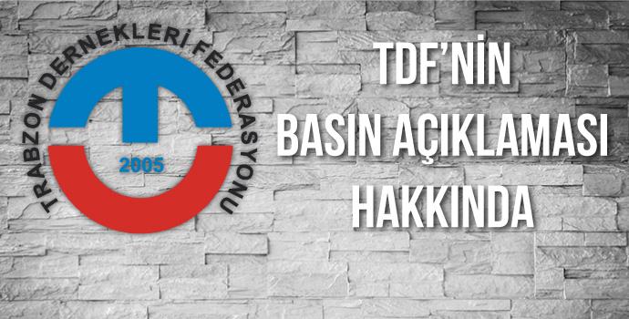 TDF'nin basın açıklaması hakkında