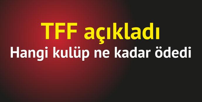 TFF kulüplerin menajerlere yaptığı ödemeleri açıkladı