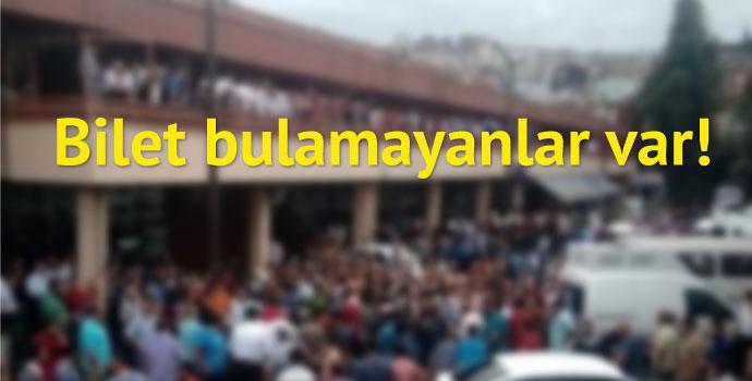 Trabzon otogarında bayram yoğunluğu