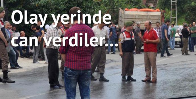 Trabzon'da kamyon 2 çocuğu ezdi!