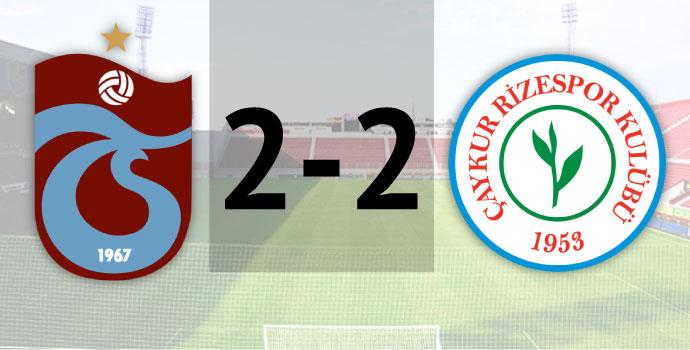 Trabzonspor 2-2 Çaykur Rizespor