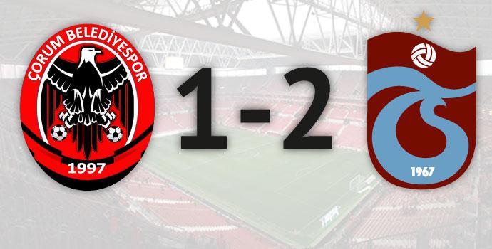Trabzonspor güç bela: 1-2