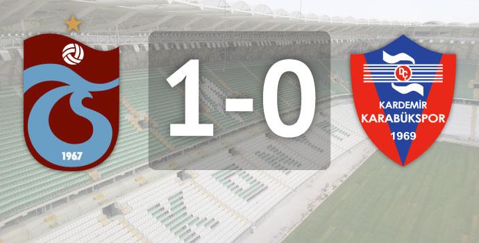 Trabzonspor - Karabükspor: 1-0