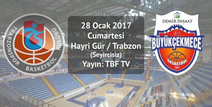 Trabzonspor Medicalpark-D.İ. Büyükçekmece / İlk Yarı bitti