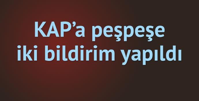 Trabzonspor'dan KAP'a 2 bildirim