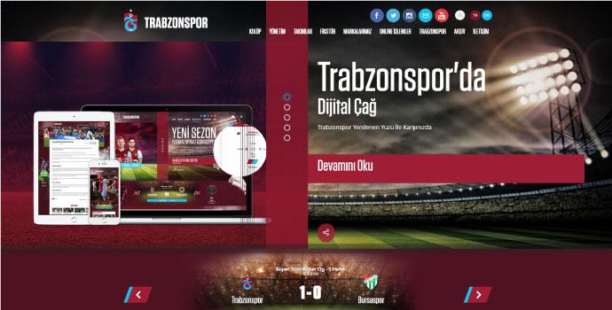 Trabzonspor'un web sitesi yenilendi