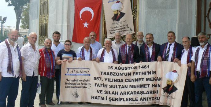Trabzon'un Fethi Fatih'in kabri başında dualarla yad edildi