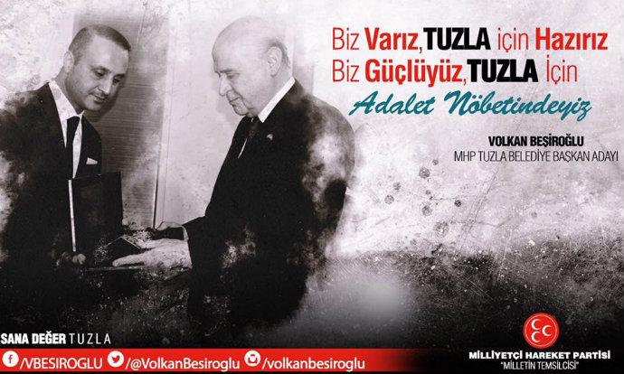 Volkan Beşiroğlu Tuzla'da aday adayı