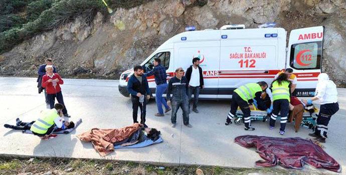 Yayla yolunda kaza! İki kişi ağır yaralı...
