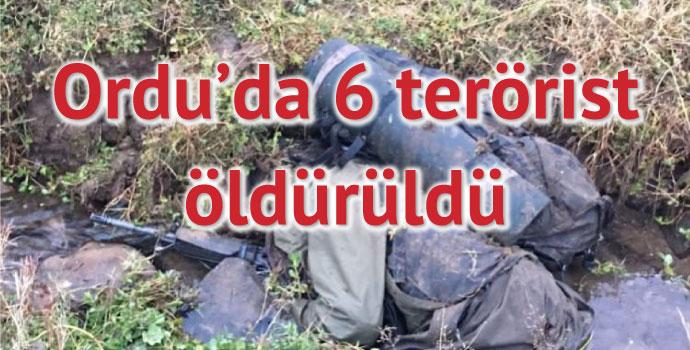 Ordu'da 6 terörist öldürüldü! İşte görüntüler...