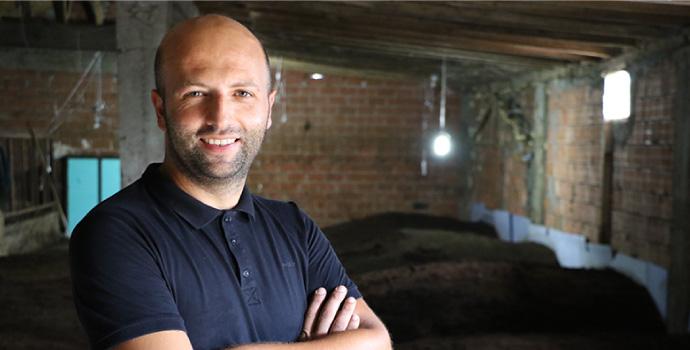 Şalpazarlı girişimci müdürlüğü bıraktı solucan tesisi kurdu