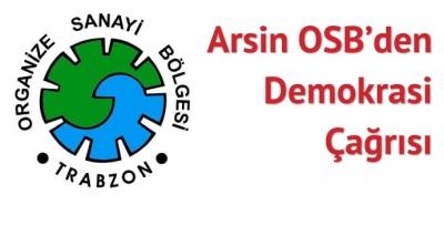 Arsin OSB bildiri yayınladı