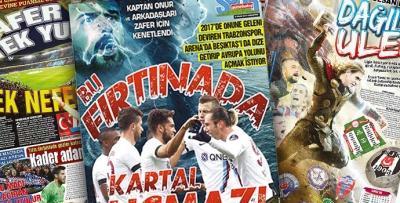 Beşiktaş maçı öncesi yerel basında manşetler