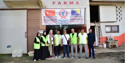 Çaykaralılar Derneği Bosna'da kurban kesti