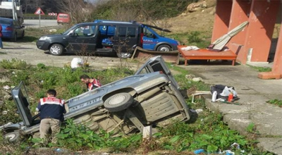 Espiye'de trafik kazası: Bir ölü!