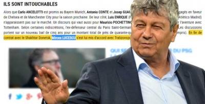 Fransız medyasında Lucescu haberi