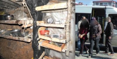 Giresun Espiye'de PKK sığınağı bulundu
