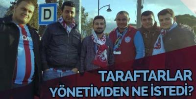 İzmir'deki Trabzonspor taraftarlarının talebi