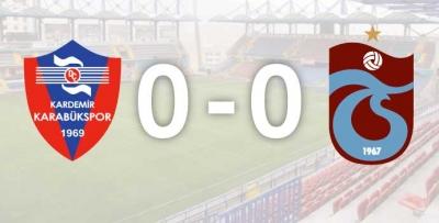 Karabükspor-Trabzonspor... 11'ler belli oldu