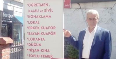 Lokantacılar Odası Başkanı Hüseyin Er Ögretmenevi'ne tepki gösterdi