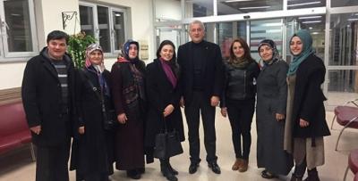 Mehmet Kuğu'dan gazilere ziyaret