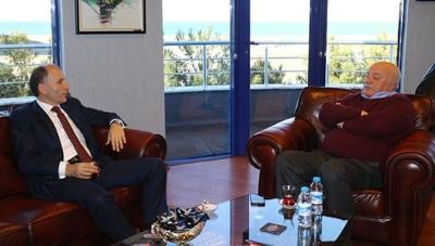 Sadri Şener Trabzonspor'u ziyaret etti