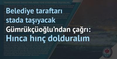 Trabzon Büyükşehir taraftarı stada taşıyacak
