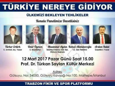 Trabzon Fikir ve Spor Platformu ilk panelini gerçekleştiriyor