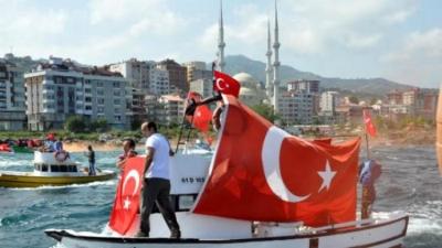 Trabzon'da otomobil denize uçtu: 1 Ölü, 2 Yaralı