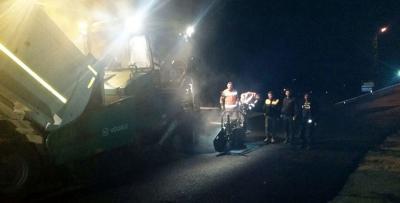 Trabzon'da yol çalışmaları gece gündüz devam ediyor