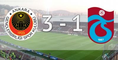 Trabzonspor Ankara'da tel tel döküldü