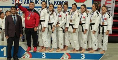 Trabzonspor Bayan Judo Takımı Türkiye üçüncüsü oldu