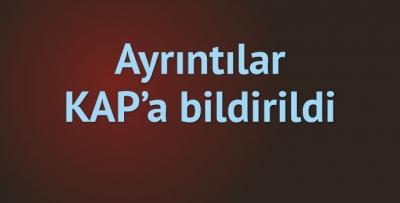 Trabzonspor KAP'a bildirdi