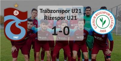 Trabzonspor'un gençleri zor da olsa galip